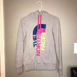 Colorful North Face Pullover Sweatshirt